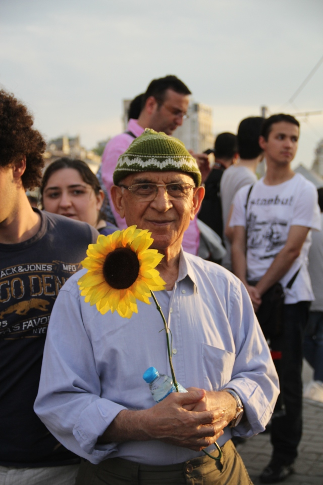 Old Man With Sunflower