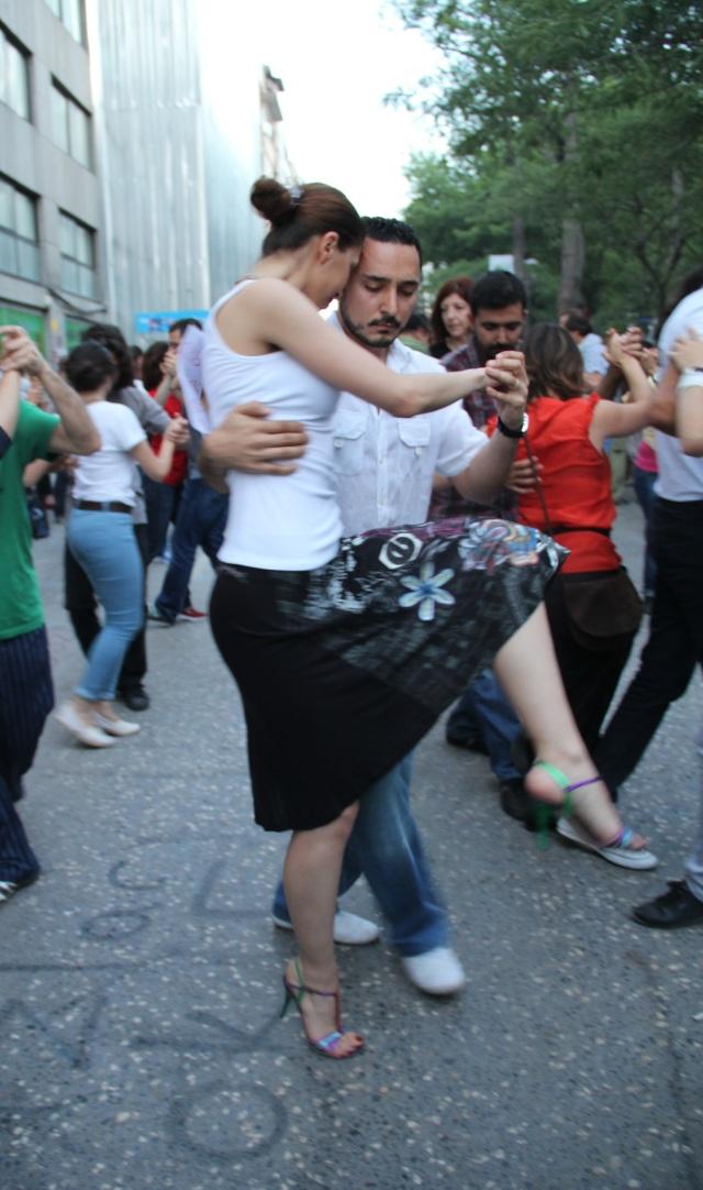 Tango Flash Mob on the streets surrounding Gezi Park_