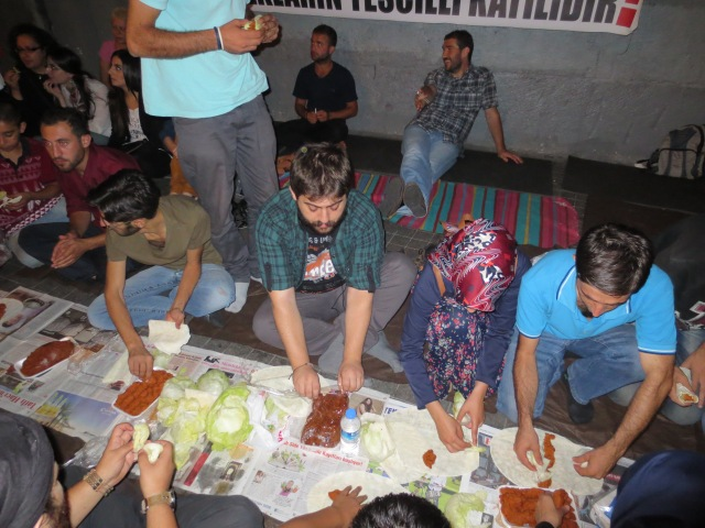 Eating çiğ köfte- a revolutionary act.